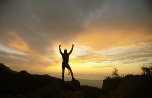 Arms Raised - sunset