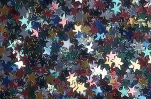 Stars - shiny foil